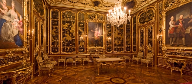 The Vieux-Laque Room: was used by Emperor Franz Stephan as his study. Following his sudden death in 1765, Maria Theresa had the Vieux-Laque Room remodelled as a memorial room.